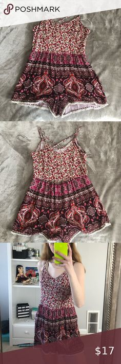 Hollister romper -Excellent used condition  -Fits a size S well -Light material, perfect for a summer day. Also looks super cute layered with a jean jacket! -Pretty colour & design -Adjustable straps -Always open to offers or any questions:) Hollister Pants & Jumpsuits Jumpsuits & Rompers Hollister Romper, Plus Fashion, Fashion Tips, Fashion Trends, Fashion Design, Jumpsuits, Super Cute, Two Piece Skirt Set, Rompers