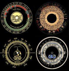 Vintage Radio Tuning Dial Graphics   Indiana Radios graphics