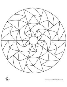 Simple Mandalas for Kids Simple Geometric Mandala – Fantasy Jr.