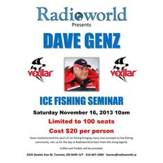Dave Genz Ice Fishing Seminar at Radioworld
