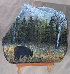 free images to paint on slate Painted Pavers, Painted Slate, Hand Painted Rocks, Painted Stones, Pebble Painting, Pebble Art, Stone Painting, Diy Painting, Slate Art