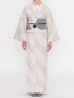 オブリック 紬の着物   DOUBLE MAISON