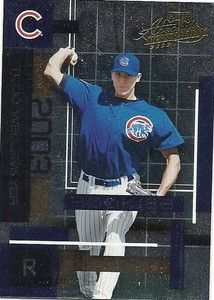 May 15, 2003 The Cubs defeat the Brewers 4-2 in 17 innings in Miller Park.  Todd Wellemeyer strikes out the side in the 17th inning to get the save.  The Cubs strike out a record 24 batters in the game.  Kerry Wood (13), Mike Remlinger (2), Juan Cruz (2), Kyle Farnsworth (4), Wellemeyer (3). Image is Todd Wellemeyer baseball card from Ebay.