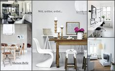 Kleurenpalet wit – zwart – hout | Maison Belle