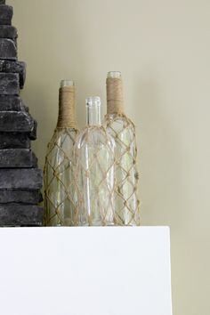 You won't believe how easy it was to make my very own Knotted Jute Bottles!