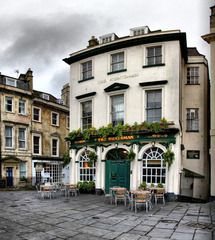 Huntsman Bath, England.  Traditional English fare and ales- one of the oldest pubs in Bath.  Our dinner, at the lovely little tables outside was wonderful, and it is right beside a park, so it is the perfect location to watch the comings and goings. http://www.huntsmanbathpub.co.uk/