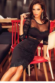 01e03521e Find More Dresses Information about Hot Women Long Sleeve Black Lace  Bodycon Backless Dresses Sexy Hollow