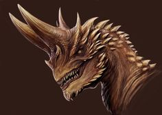 horned dragon by TatianaMakeeva.deviantart.com on @DeviantArt