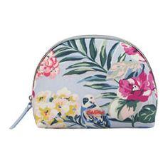 Tropical Garden Half Moon Make Up Bag
