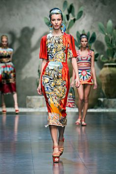 baac03986e6 A look from the Dolce   Gabbana Spring 2013 RTW collection. Best Of Fashion  Week