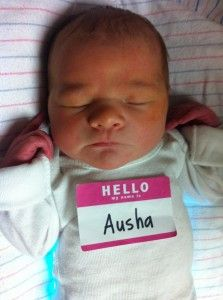 Love the name tag for the first iPhone photo from the hospital.
