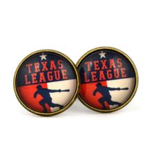 Texas League Logo cufflinks. Minor league baseball. USA. Personalised Silver Men's jewelry accessories gift. by Mysstic on Etsy