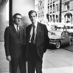 Ivan Chermayeff, right, with Tom Geismar in Manhattan in 1965.