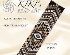 Peyote pattern for bracelet Vivid treasure peyote bracelet
