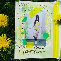 Day 2 Sport now !!! #100dayproject  #the100dayproject #100daysofmyajcollage #sport #yellow #artjournal #artjournaleveryday #artcollage #collagepaper #journalcreatif #instacreativity #instamoment #colors #journalpage #spring #sunspring