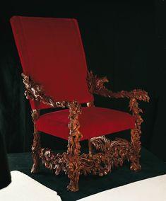 Andrea-Brustolon-Poltrona-Palazzo-del-Quirinale Baroque Furniture, Eclectic Furniture, Italian Furniture, Renaissance Fashion, Italian Renaissance, Renaissance Furniture, Palazzo, Italian Baroque, Baroque Design