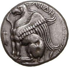 Statere - argento - Abdera, Tracia (395-360 a.C.) - Grifone ad ali chiuse seduto vs.sn. ΑΒΔΗ - Münzkabinett Berlin