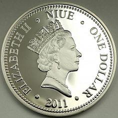 Niue 1 dollar Yoda from Star Wars Space opera base metal coin 2011