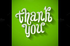 Thank you message made vector by Rommeo79 on @creativemarket