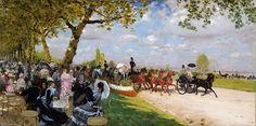 Giuseppe De Nittis - Return from the Races [1875]   Flickr - Photo Sharing!