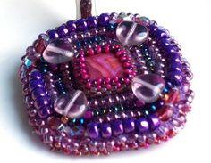 Orchid Purple Love of my Life Brooch Purple Hearts by emptynestegg