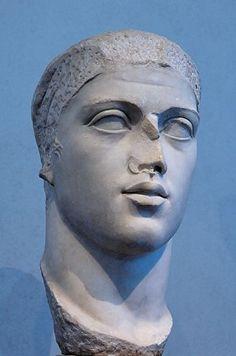 Alexander Severus, Roman Emperor, reigned 222-235 C.E.,    from Ostia Antica Round Temple,      Museo Nazionale Romano, Palazzo Massimo, Roma