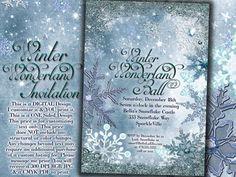 Winter Wonderland Party Winter Snowflake Invitation by BellaLuElla, $10.00