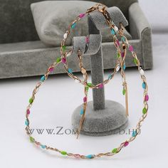 Jenni szett - Zomax Gold divatékszer www. Beaded Necklace, Hoop Earrings, Jenni, Gold, Jewelry, Fashion, Jewellery Making, Moda, Jewerly