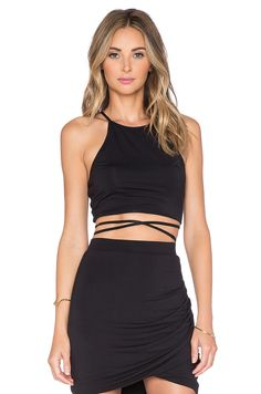 Lovers + Friends x REVOLVE Star Goddess Crop Top in Black