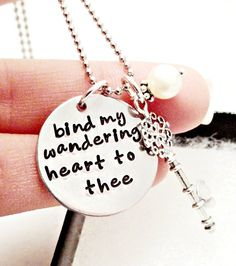 Hand Stamped Necklace -ETSY