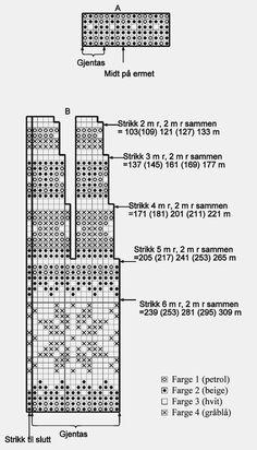 Diagram rundfelt jakke