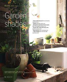 """Garden Shades"". Spaces Magazine. Photographer: Tim Nehotte. Art Director & Stylist: Barbara Schmidt // studiobstyle.com"