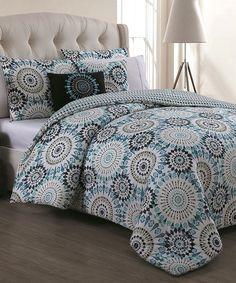 Love this Blue Cortez Five-Piece Comforter Set on #zulily! #zulilyfinds