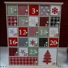 diy cute wooden doors advent calendar crafts - snowflack, Christmas 2015 tree, lattice pattern, home decoration - LoveItSoMuch.com