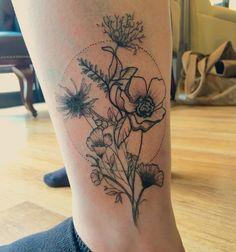 Love my new wildflower tattoo …