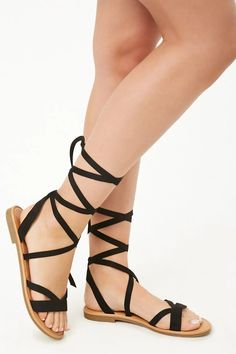21c212bb8b9c Faux Suede Gladiator Sandals. Lace Up Gladiator SandalsStrappy Sandals HeelsFlat  ...