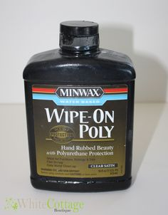 Water Based Wipe On Poly tips & tricks for chalk painted furniture (The Vintage Storehouse & Company) I am going to look for this and try it out Chalk Paint Projects, Chalk Paint Furniture, Furniture Projects, Furniture Refinishing, Paint Ideas, Cabinet Refinishing, Diy Projects, Refurbished Furniture, Repurposed Furniture