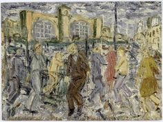 Kings Cross, March Afternoon, 1998, by Leon Kossoff