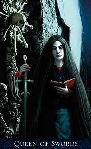 Bohemian Gothic Tarot Queen of Swords