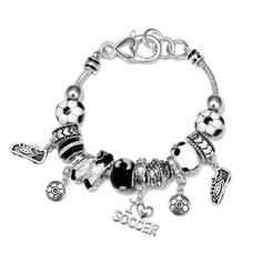 Buy sterling silver bracelets from our huge stock. Styles range from tennis to bangle bracelets. Snake Bracelet, Bangle Bracelets, Bangles, Soccer Necklace, Soccer Accessories, Soccer Outfits, Girls Soccer, Cute Jewelry, Sterling Silver Bracelets