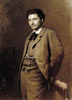 Ivan Kramskoy (Russian, 1837-1887), Fyodor Vasilyev, 1871. Oil on canvas. Tretyakov State Gallery, Moscow.    Fyodor Vasilyev (1850-1873) was a Russian landscape painter.