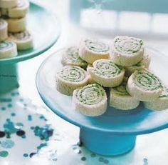 cucumber and cream cheese pinwheels... maybe add some turkey too!