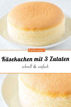 Japanischer Käsekuchen mit nur 3 Zutaten | eatsmarter.de