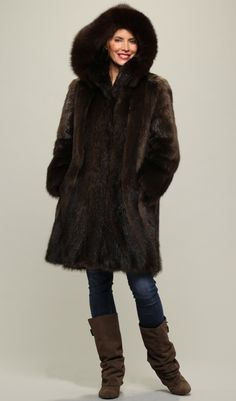 Fur restyle from old mink jacket to sheared and unsheared mink ...