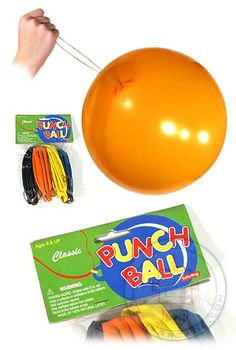 Remember the classic Punch Ball! Our retro Punch Ball Set includes 4 colorful heavy duty Retro Toys, Vintage Toys, 1960s Toys, Vintage Stuff, 1980s, My Childhood Memories, Sweet Memories, School Memories, 1970s Childhood