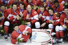 Team Canada with their gold medals after beating Team Sweden in the gold medal Olympic hockey final, February 2014 at the Sochi Winter O. Olympic Hockey, Men's Hockey, Canada Hockey, Gold Medal Winners, Canada Eh, Celebrity Crush, Sweden, Olympics, Christmas Sweaters
