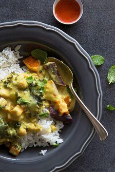 Vegan Thai Squash Curry   kohlrabi, potatoes, chick peas, butternut squash