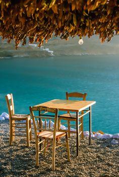 Taverna by the sea, Kalymnos, Greece