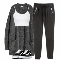 3 Easy AF Ways to Make a Crop Top With Stuff You Already Have - h&m crop t. - 3 Easy AF Ways to Make a Crop Top With Stuff You Already Have – h&m crop top h&m joggers h& - Cute Lazy Outfits, Sporty Outfits, Teen Fashion Outfits, Swag Outfits, Mode Outfits, Outfits For Teens, Stylish Outfits, Classy Outfits, Summer Outfits