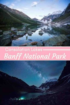 Most visitors to Banff National Park hit up Lake Louise and Moraine Lake, but good options, but crazy crowded in the summer months. A far better option is hiking to Consolation Lakes - an easy trail near both and Landscape Photography Tips, Night Photography, Landscape Photos, Nature Photography, Banff National Park, National Parks, Travel Inspiration, Travel Ideas, Travel Tips